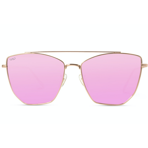 Sadie Pink Mirrored, Rose Gold Sunnies-8 - Tres Chic Boutique
