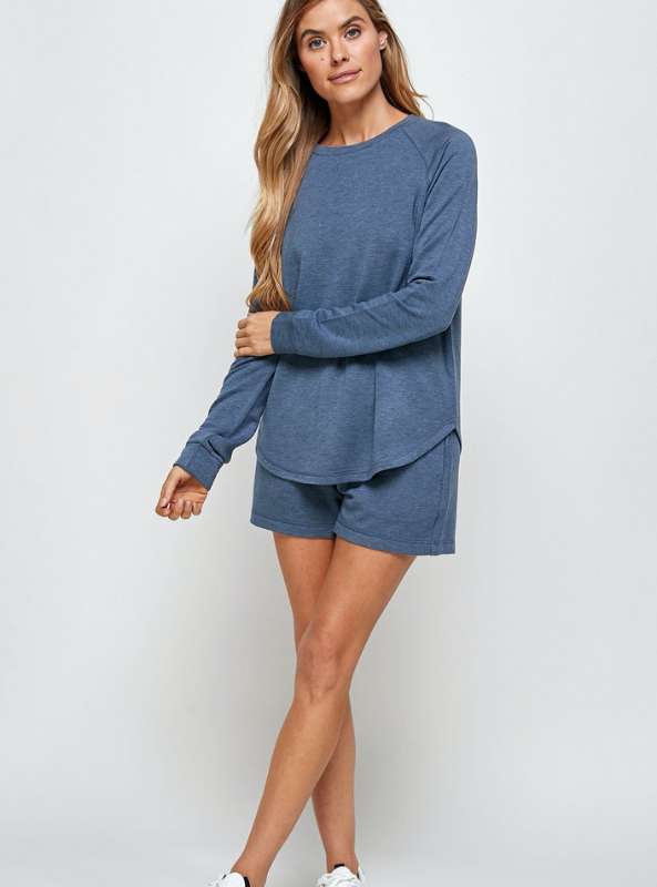 Unwind Sweater-Washed Indigo