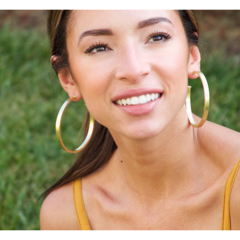 Lunaria Hoops-A - Tres Chic Boutique