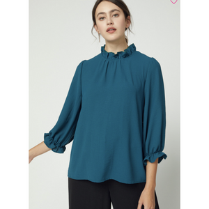 Stacy Smock-Neck Top