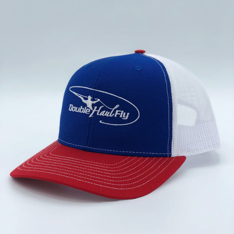 Double Haul Fly Royal/White/Red Hat