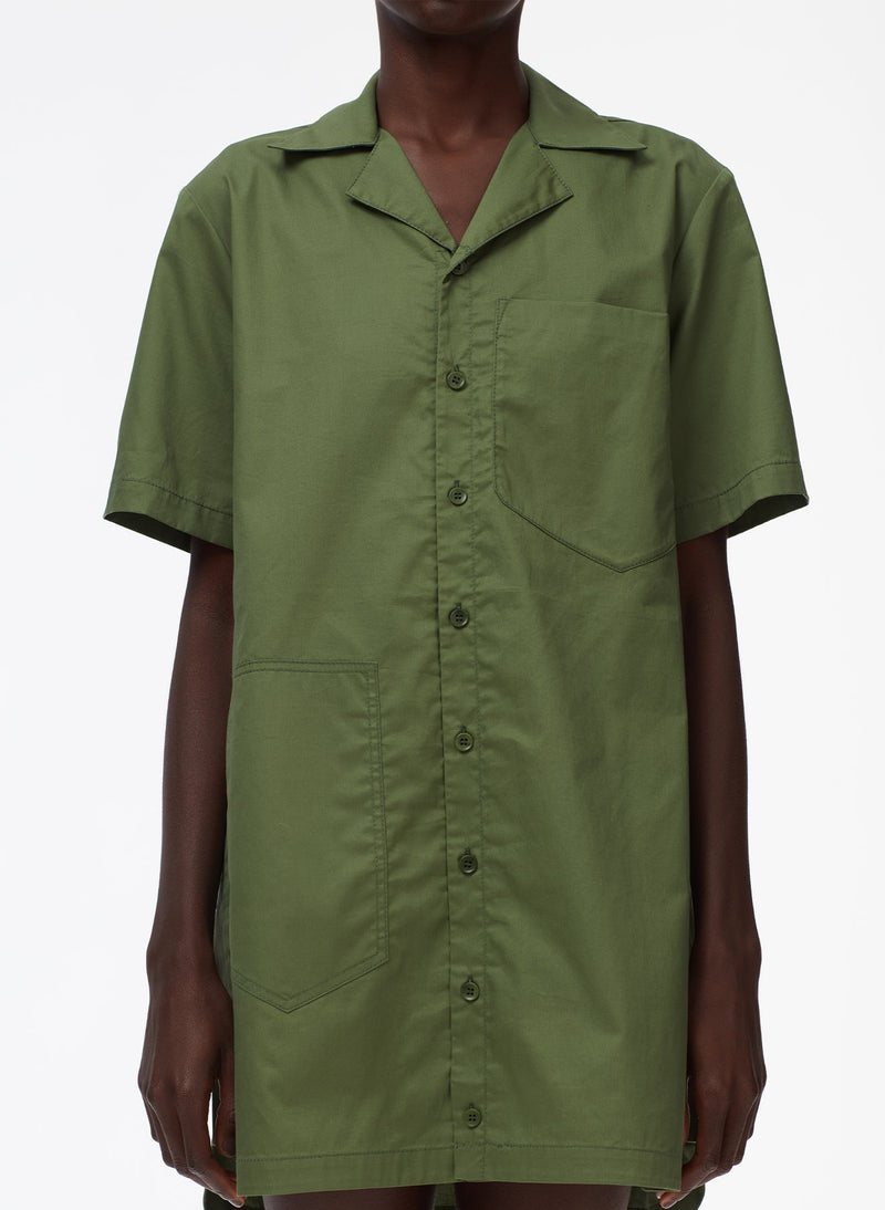 Tibi Cotton Twill Camp Dress