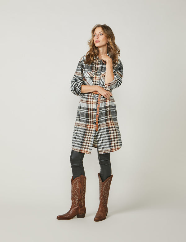 Summum Alpaca Check Shirt Dress