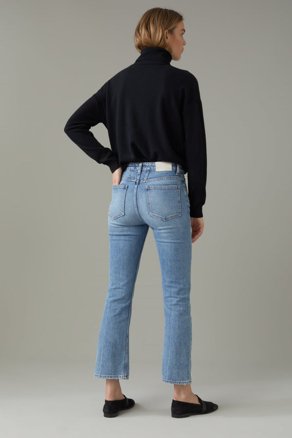 Back of jeans on model.