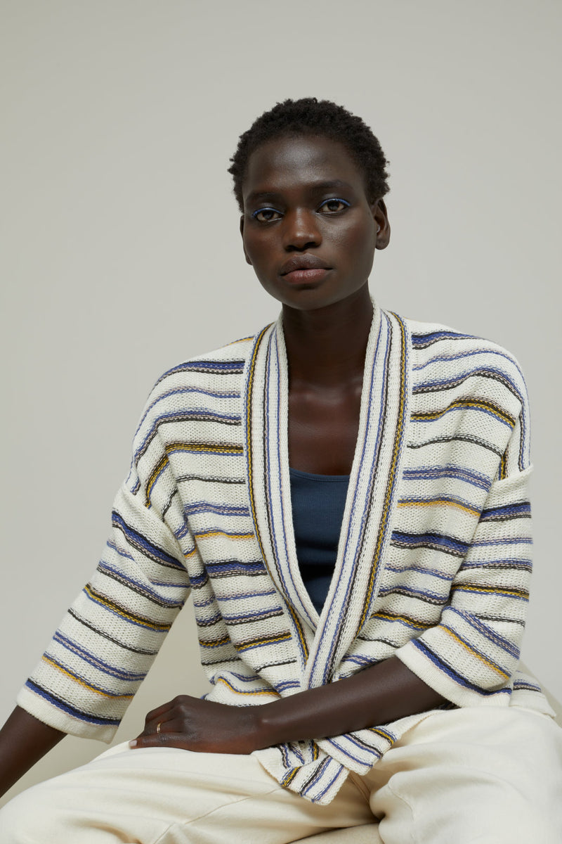 Front of cardigan.