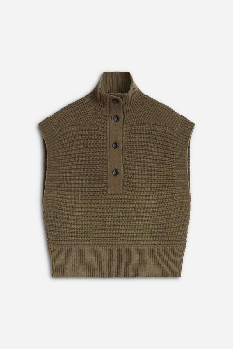 A flat view of the sweater vest.