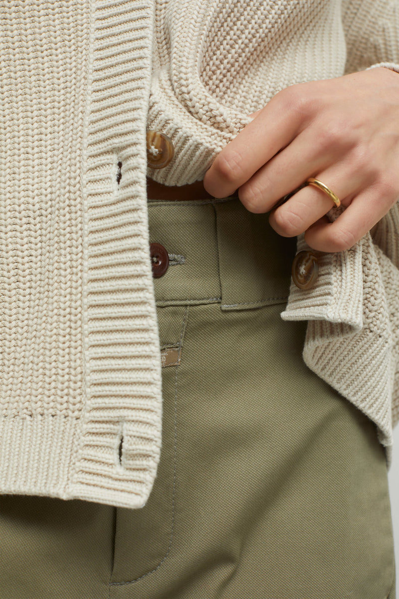 Close up of sweater.