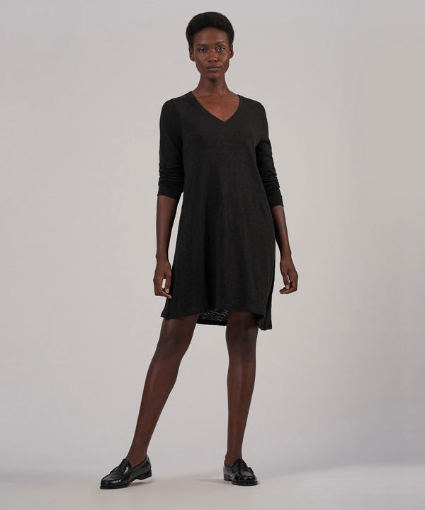 ATM Slub Jersey V-Neck Dress