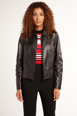 Elie Tahari Addison Leather Jacket