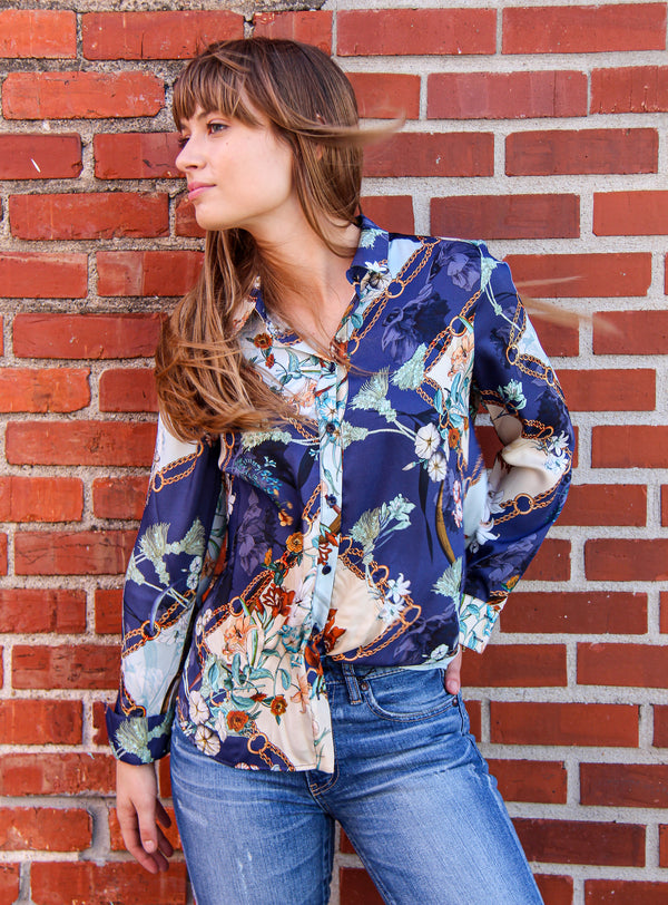 Summum Flower Square Blouse
