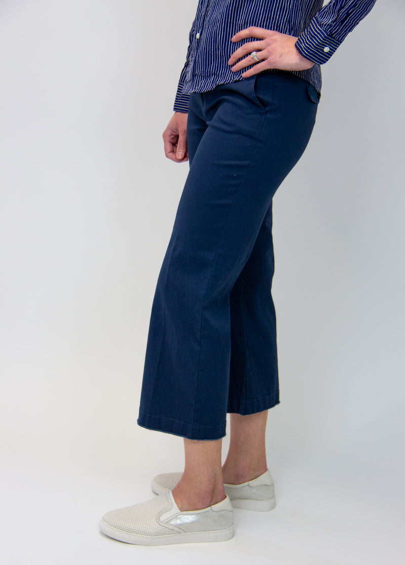 ATM Enzyme Wash Cropped Boyfriend Pant