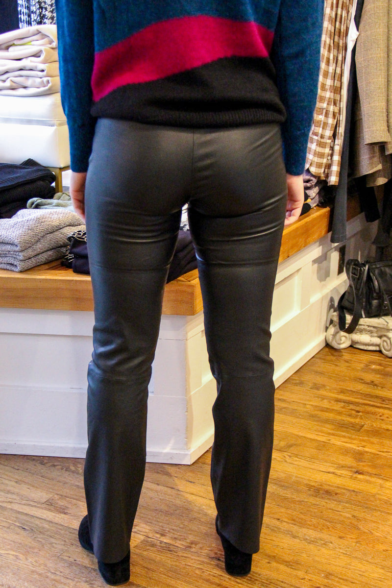 VEDA Buck Stretch Leather Trouser