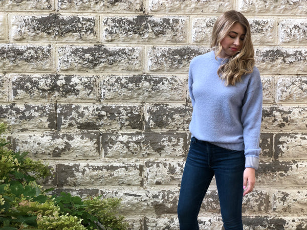 Tibi Crew Neck Pullover with Cuffs