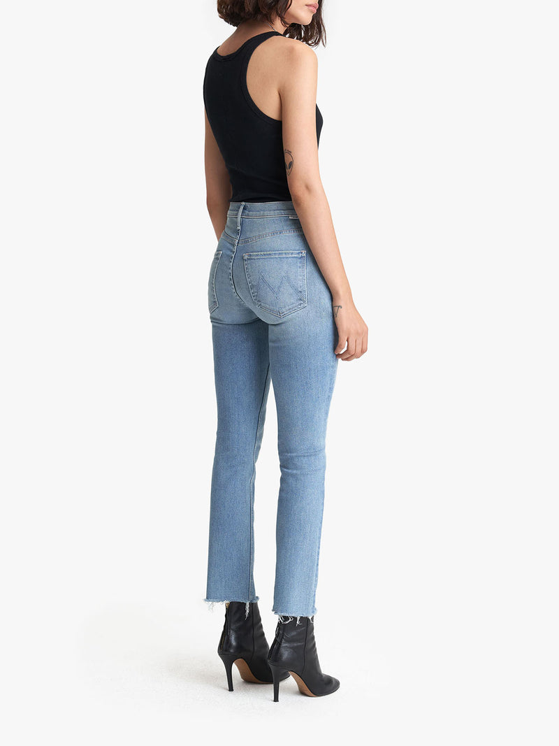 Mother Midrise Dazzler Ankle Fray Jean
