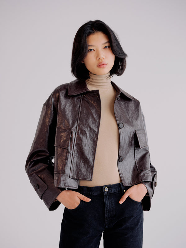 Mijeong Park Faux Leather Jacket