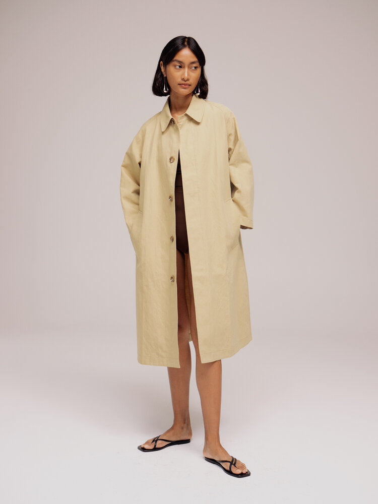 Mijeong Park Linen Trench