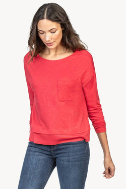 Lilla P Drop Shoulder Pocket Tee