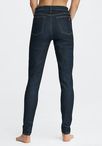 A back view of the Nina Skinny jean in Indigo Rinse.