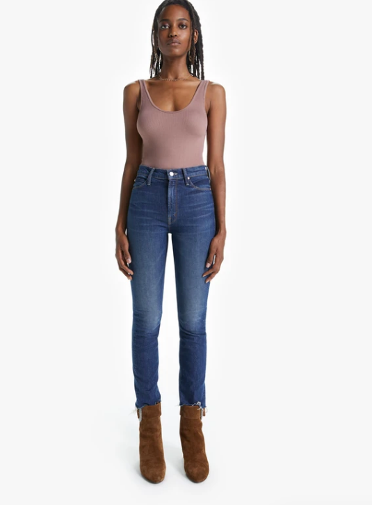 Mother Dazzler Ankle Fray Jean
