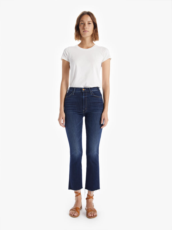 Mother Hustler Ankle Fray Jean
