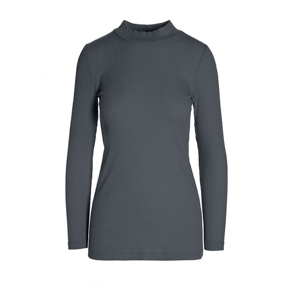 An invisible mannequin view of the Globe Turtle Neck in the color dark shadow.