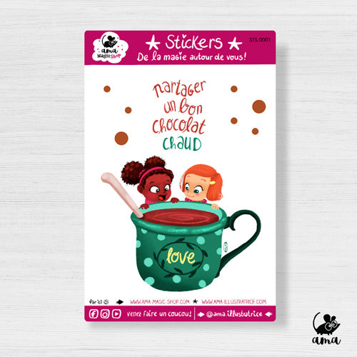 "Sticker "" Le chocolat chaud """