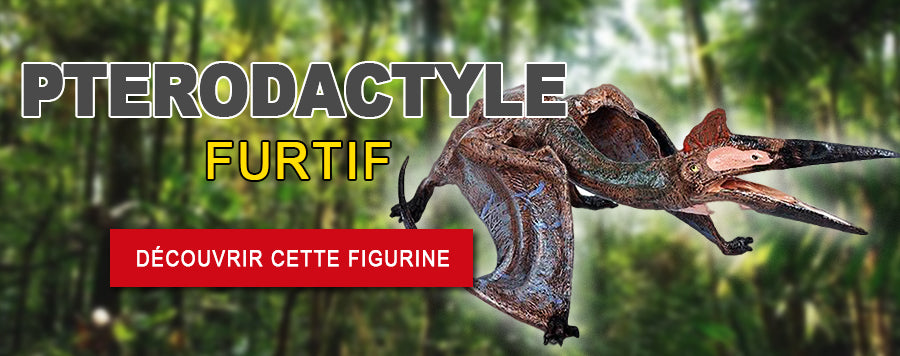Banniere figurine pterodactyle furtif
