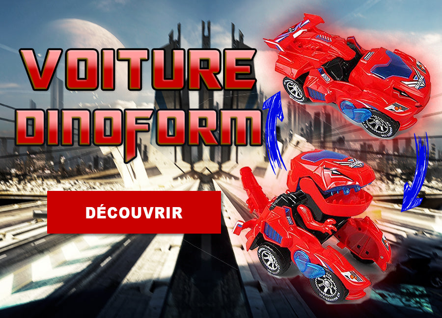 Banniere voiture dinosaure transformable
