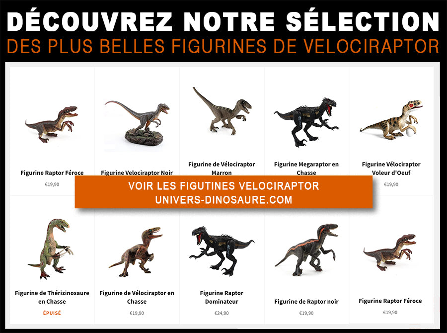 Collection figurines de velociraptor