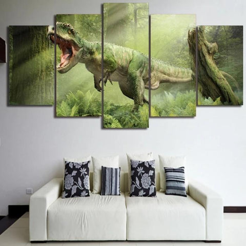 Tableau Dinosaure<br>T-rex de la Jungle