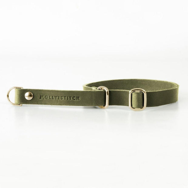 Retrieverhalsband Leder BUTTER Olive MOLLY&STITCH
