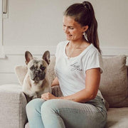 T-Shirt Dog Mom weiß DOGANDLIVING