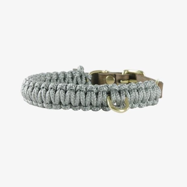 Touch of Leather Hundehalsband Grey MOLLY&STITCH