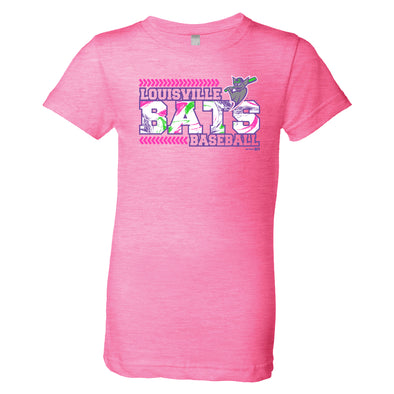 Youth Girls Neon Pink Princess Tee