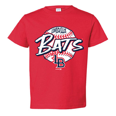 Red Toddler Bats Tee