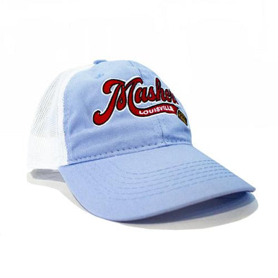 Louisville Bats Light Blue Mashers Wordmark Trucker Cap