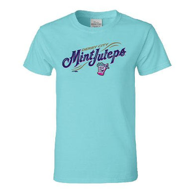 Louisville Bats Women's Mint Julep Mint Wordmark Tee