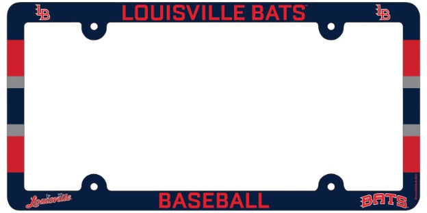 Bats License Plate Frame Louisville Bats Official Store