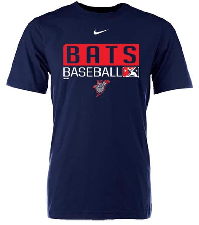 Navy Nike Men's Louisville Bats Tee