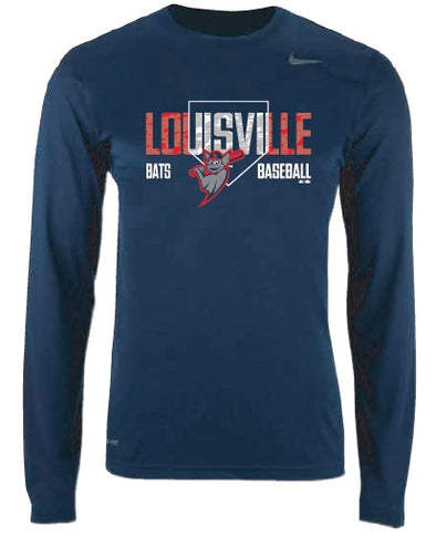 Navy Men's Long Sleeve Dri-Fit