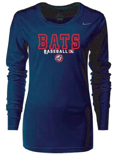Navy Women's Long Sleeve Dri-Fit