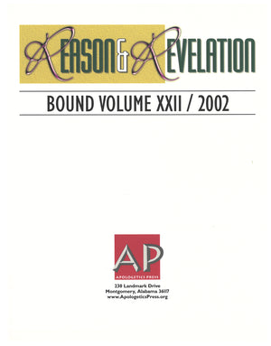 Reason & Revelation Bound Volume 2002