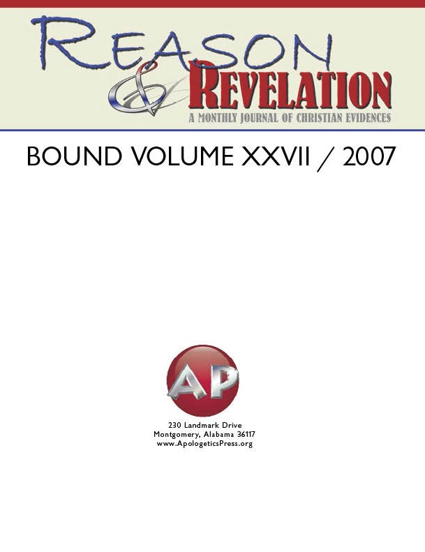 Reason & Revelation Bound Volume 2007