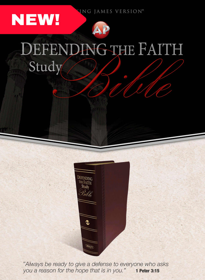 Defending the Faith Study Bible (Italian Duotone Maroon)