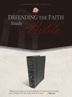 Defending the Faith Study Bible (Italian Duotone Gray)