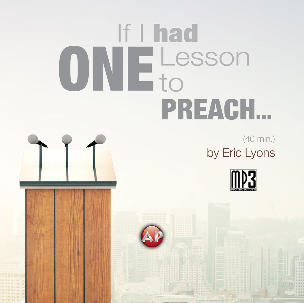 If I Had One Lesson to Preach to the World...This is What I'd Say [Audio Download]