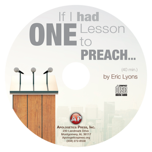 If I Had One Lesson to Preach to the World...This is What I'd Say (CD)
