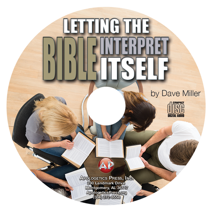 Letting the Bible Interpret Itself (CD)