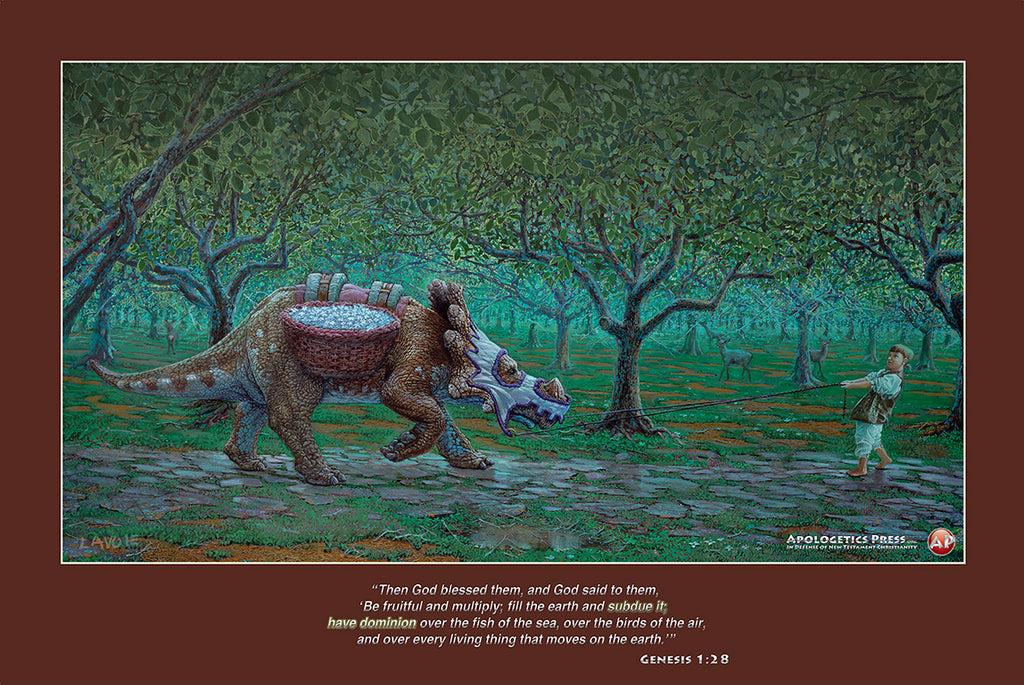 "Dinosaur Poster: ""Deers in the Forest"" (Genesis 1:28)"