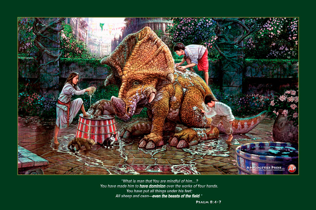 "Dinosaur Poster: ""Prelude to the Fair"" (Psalm 8:4-7)"